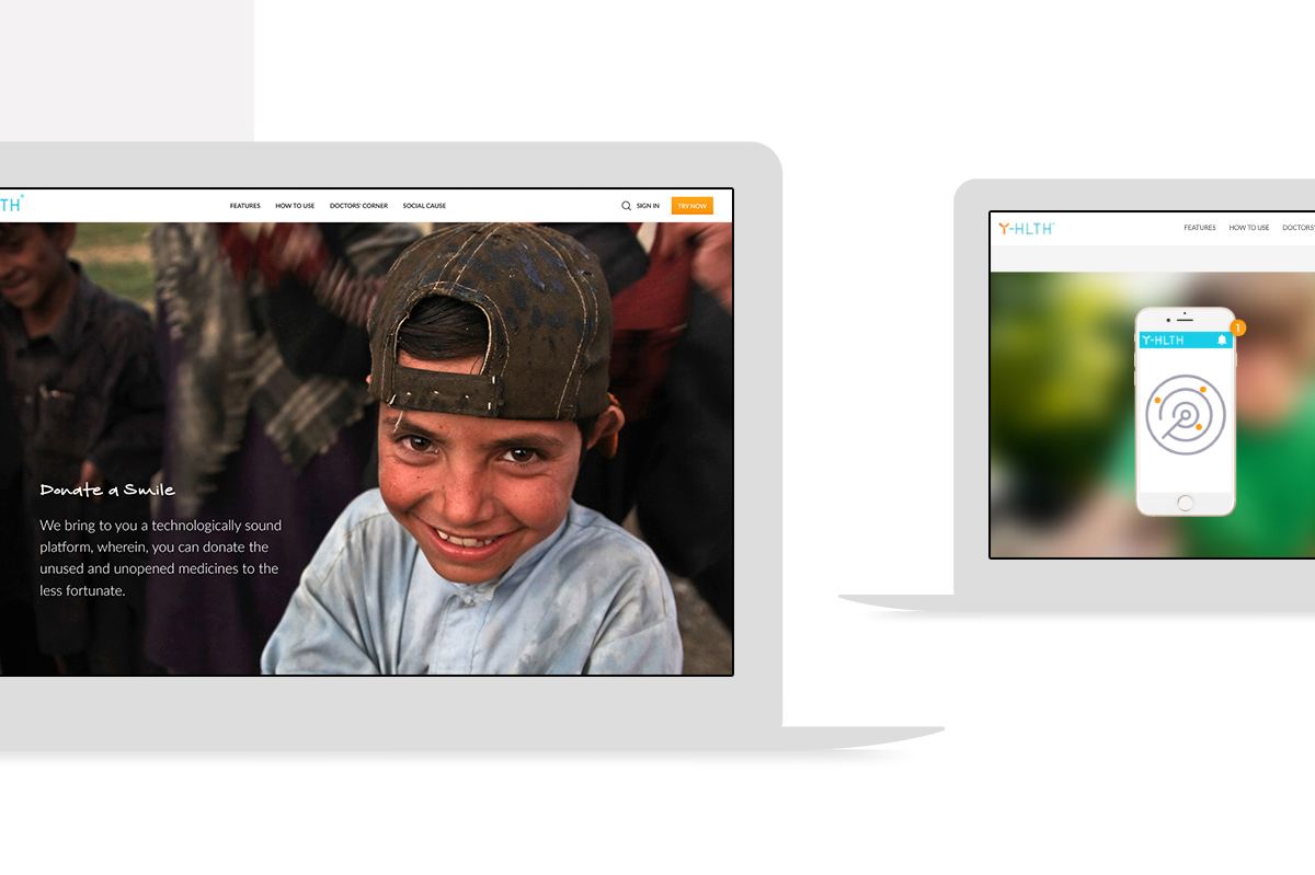 Yhlth web screens designs