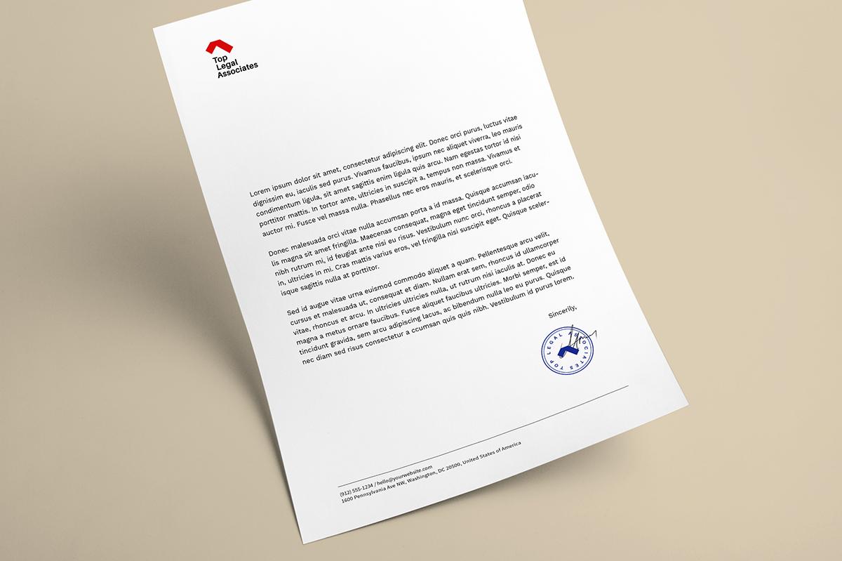 legal letterhead designs concept
