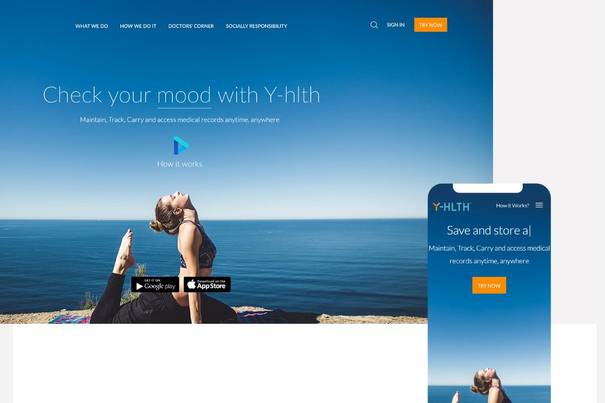 Yhlth web designs screens