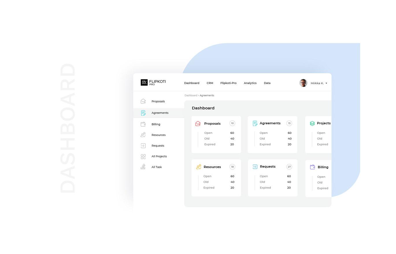 flipkoti admin web designs