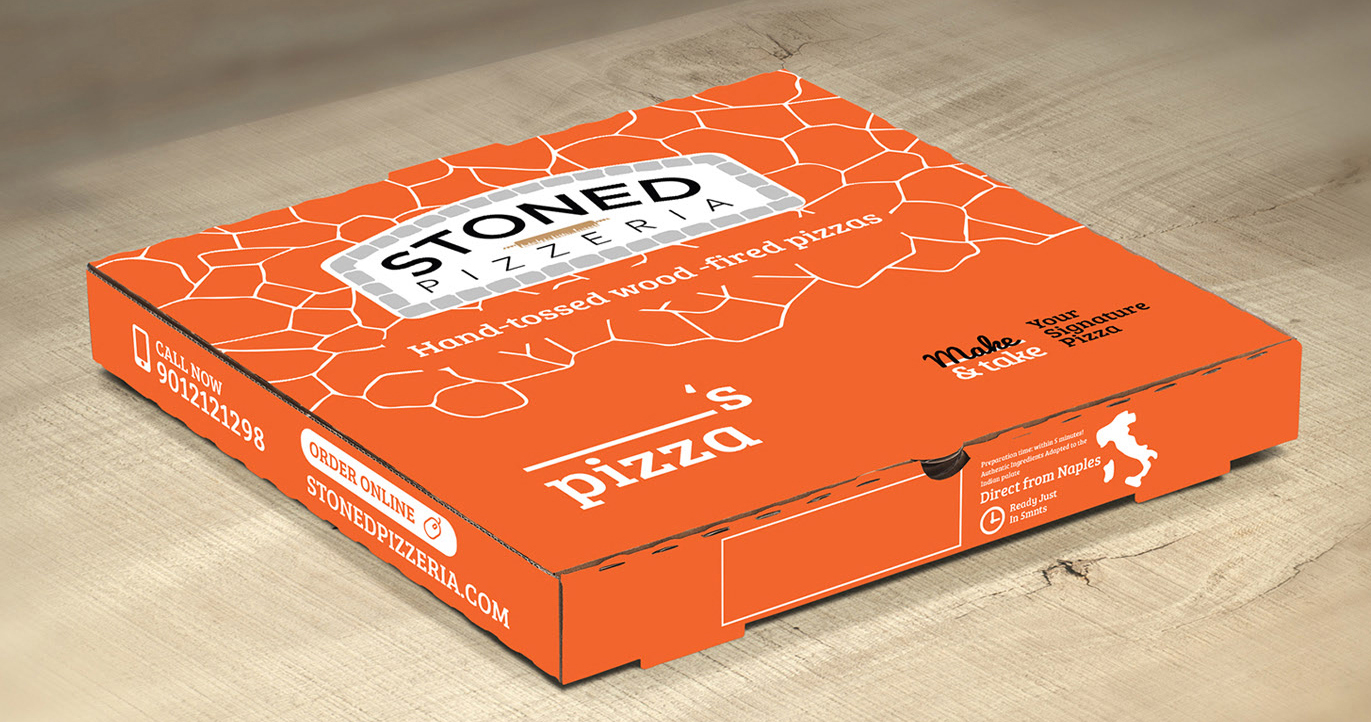 stoned pizza packaging